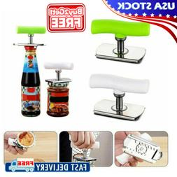 Adjustable Lid Bottle Can Jar Opener Remove Tool Stainless S