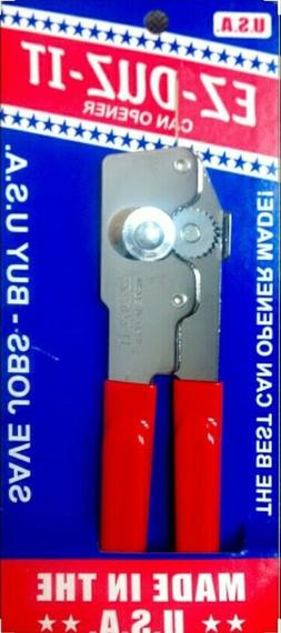 EZ DUZ IT American Made Red Grips Manual Junior Can Opener -