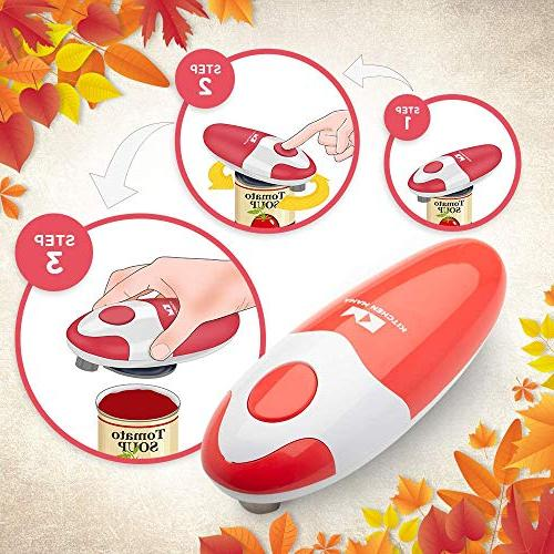 Kitchen Mama Electric Can Ergonomic, Easy to and | Battery & Portable, Smooth-Edge Perfect for with