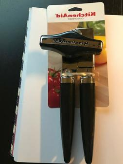 KitchenAid NEW BLACK CAN OPENER HIGH-CARBON STAINLESS STEEL