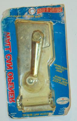 NOS SWING-A-WAY WALL MOUNT CAN OPENER! MADE IN USA! WHITE! U