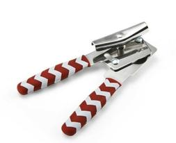 Swing-A-Way Compact Can Opener Soft Grip, Red Chevron